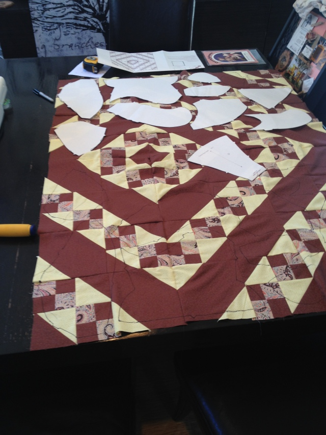 Patchwork, check!  Now cut it all back up again.